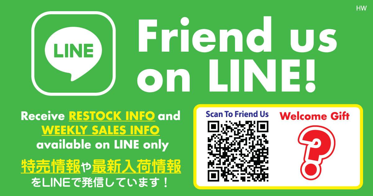Friend us on Line (HW)