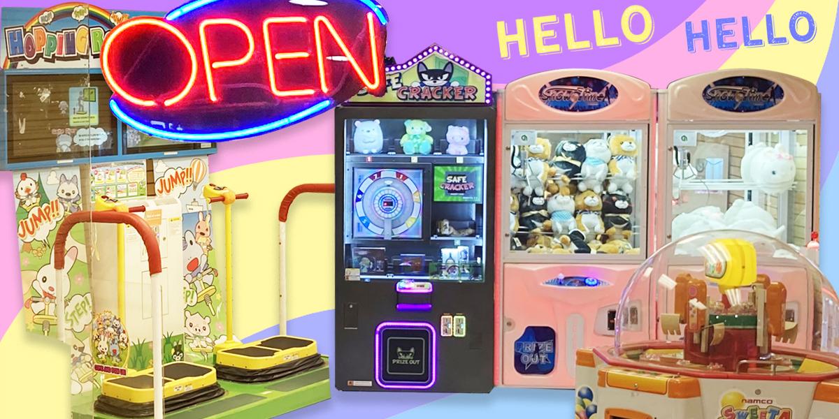 Amusement arcade is now open